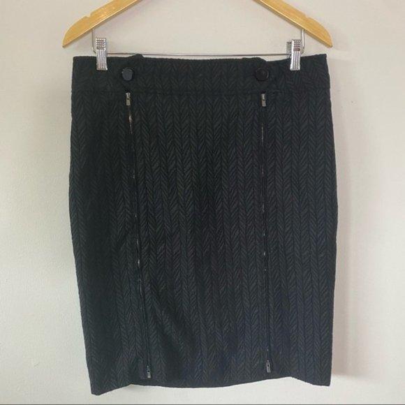 ARMANI COLLEZIONI Black & Grey Double Zip Skirt